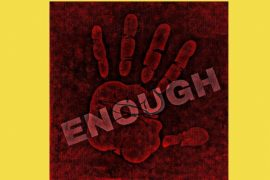Hand outstretched saying enough