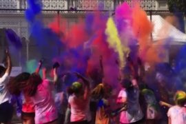 Purim colour party at The King David School